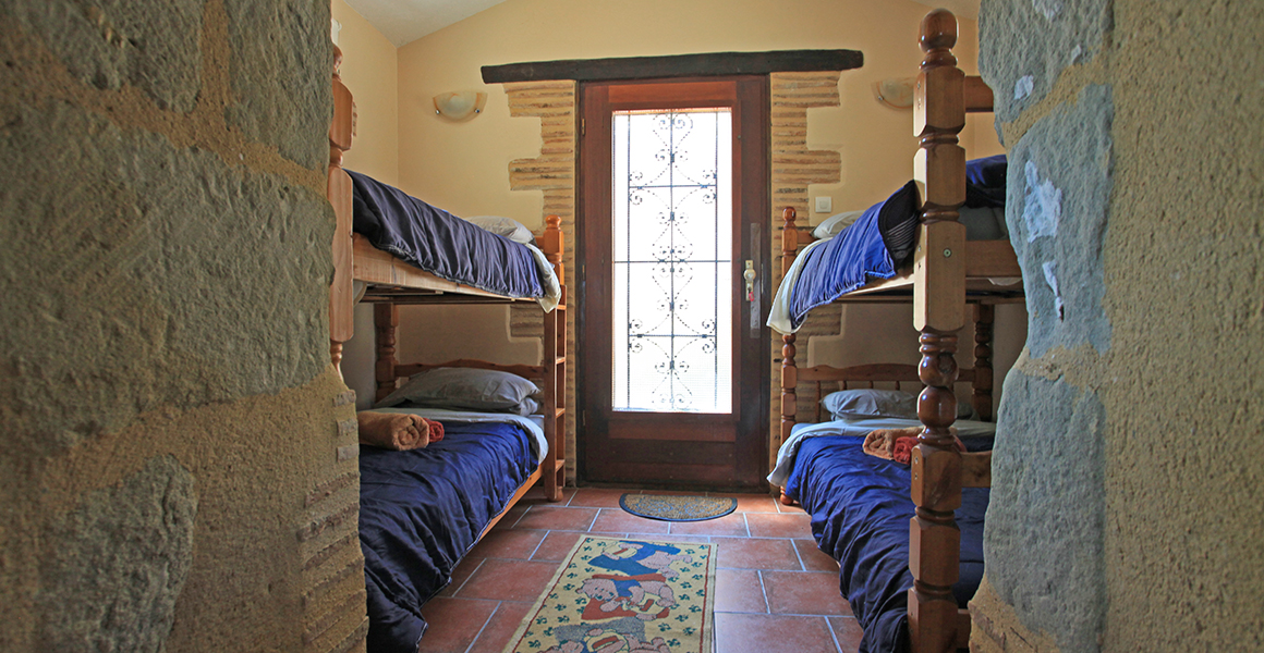 Farmhouse ground floor small bunk bed room