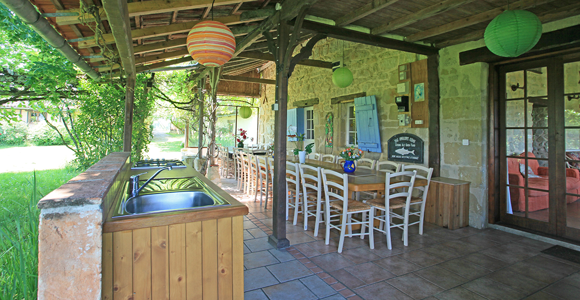 Farmhouse covered terrace, perfect for long summer evenings