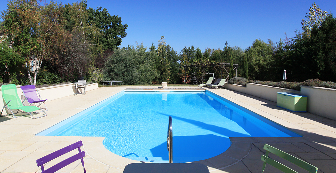 The 12m x 6m heated pool