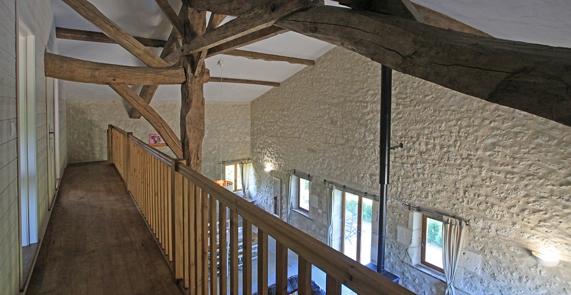 Barn cottage galleried landing