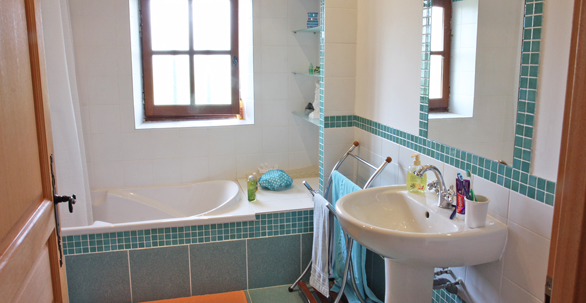 Family bathroom, there's also a ground floor shower room/WC adjacent to the pool