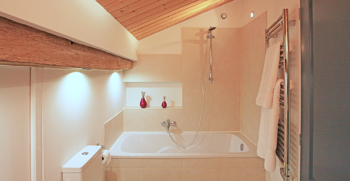 Barn en suite bath/shower room and WC
