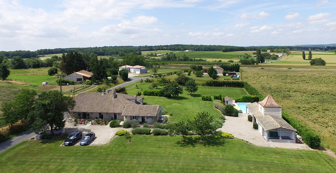 Les Couroux surrounded by peaceful countryside with exceptional views