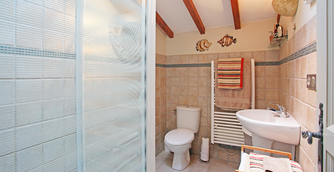 Large gite first floor shower room