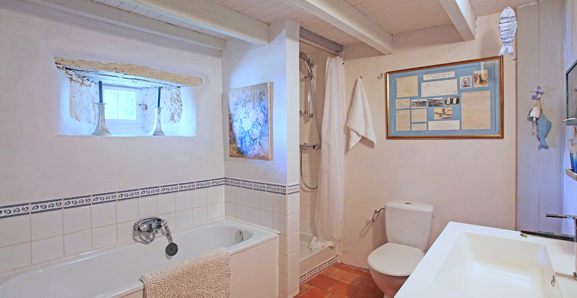 Large gite ground floor bath/shower room