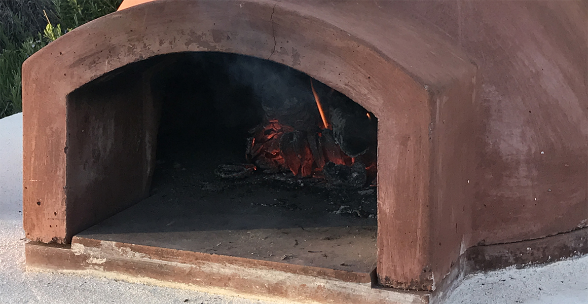 The new pizza oven