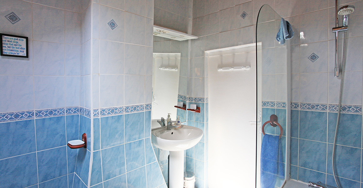 The first floor family bathroom, there's also a ground floor shower room