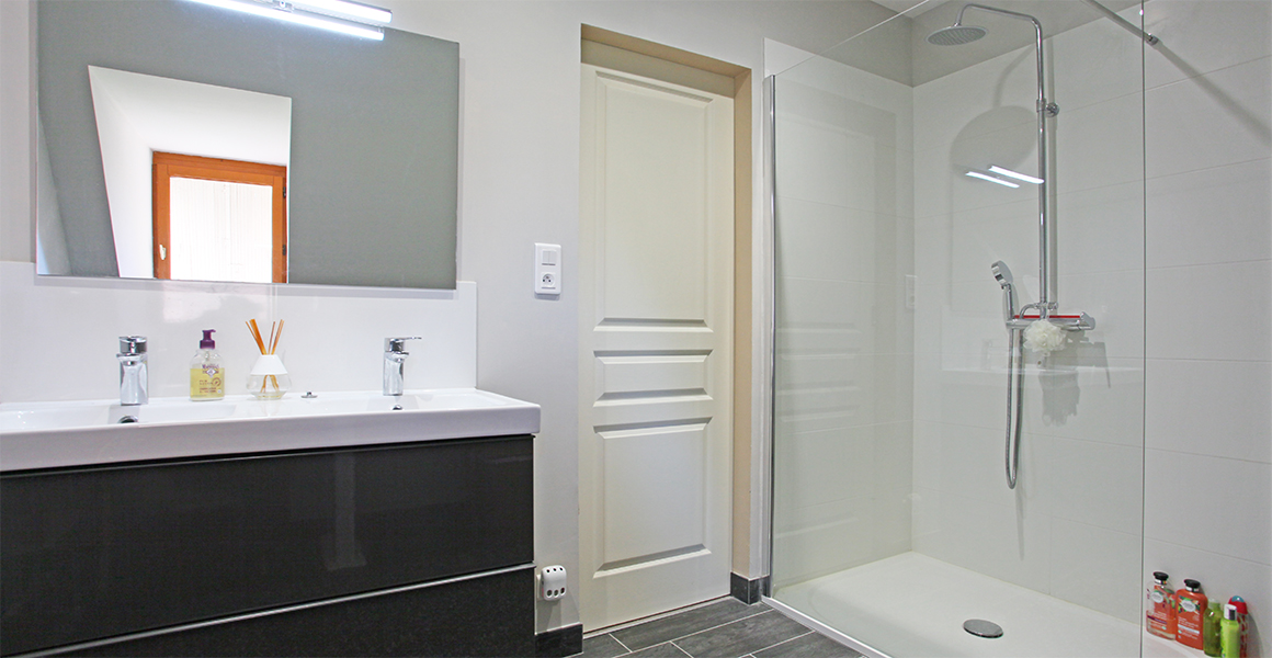 First floor shower room, there's also a separate WC